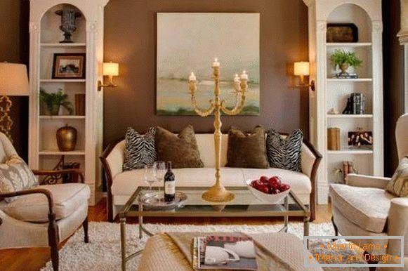 Meubles de salon blanc - 35 photos en design d\'intérieur