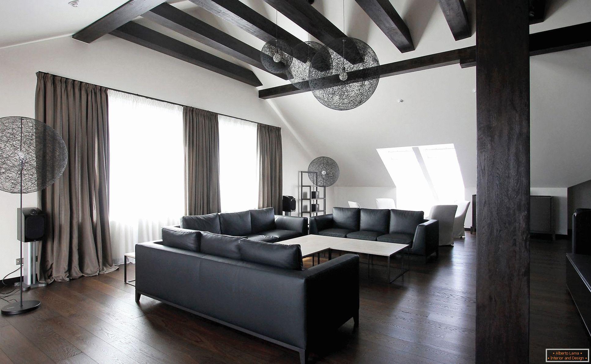 Plafond Noir A L Interieur 75 Photo
