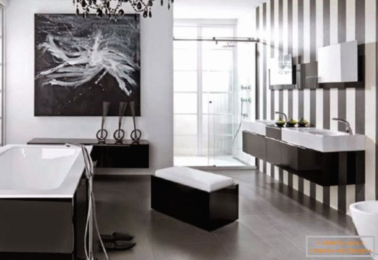 modern-salle de bain design-black-and-white-sophisticated-look