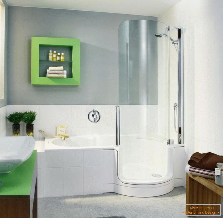 refreshing-salle de bain design-of-elegant-bathroom-with-shower-bathtub-combo-in-futuristic-shape-wonderful-shower-tub-combo-inspiration-for-nifty-bathroom-in-contemporary-house-design