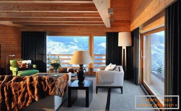 Design d\'intérieur d\'une maison de campagne: styles