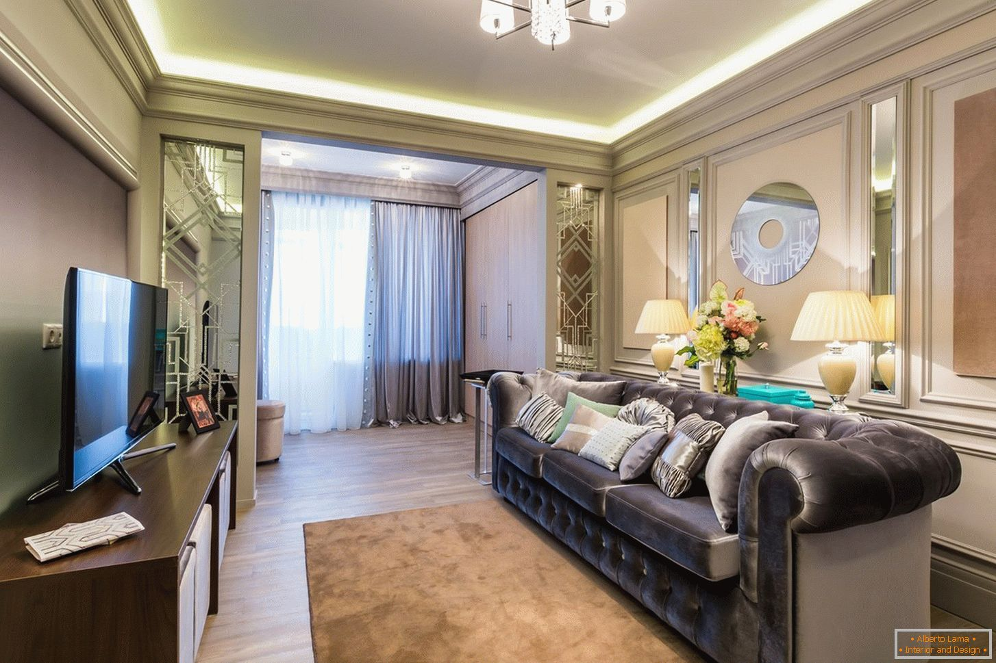Design de salon luxueux