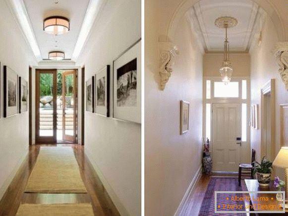 Comment concevoir un couloir étroit - 28 photos avec des