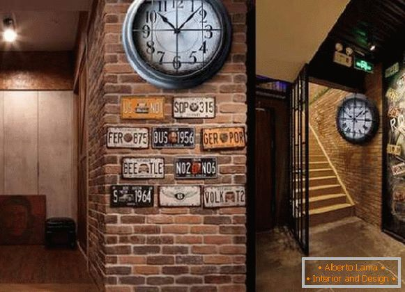horloge murale style loft, photo 17