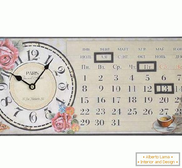 horloge avec calendrier mural, photo 24