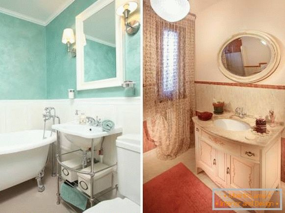 Style provençal de charme dans la salle de bain - 30 photos