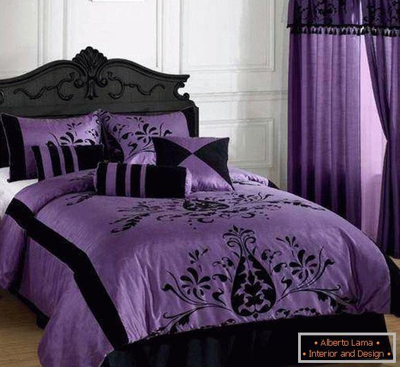 Chambre luxueuse dans les tons violets - 30 photos de design