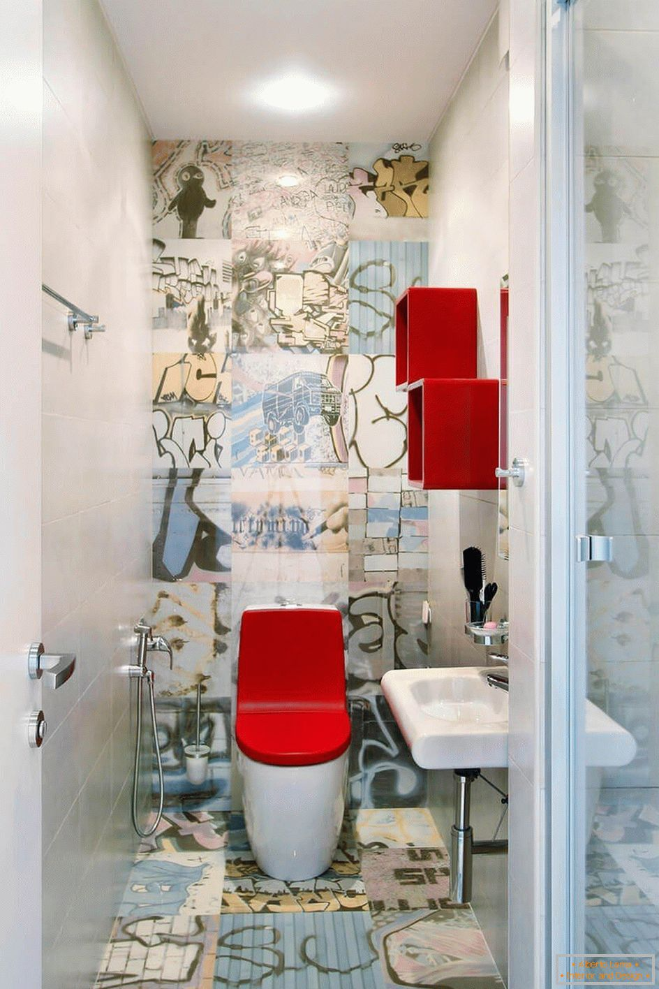 Art design des toilettes